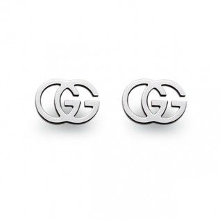 90e29b56bce1 Gucci GG Tissue Stud Earrings 18ct White Gold  Gucci   Product Catalogue    Berry s