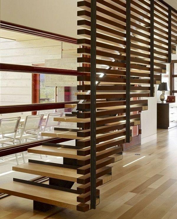 Holz Regal Als Raumteiler Idee Einrichtung | Möbelideen