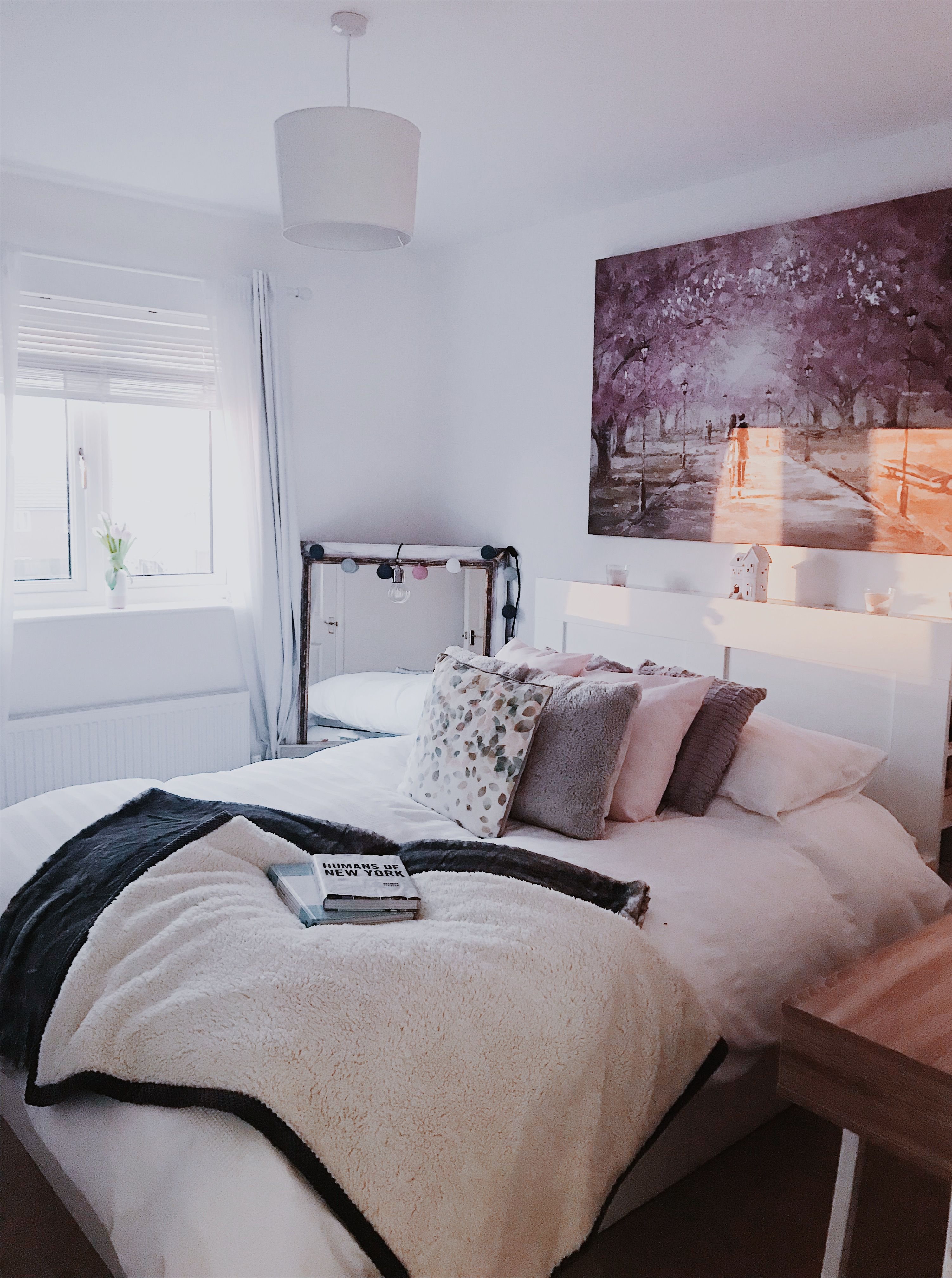 Pink And White Bedroom Decor With Hints Of Grey Bedroominspo
