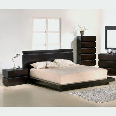 JM Furniture Knotch Platform Customizable Bedroom Set Products