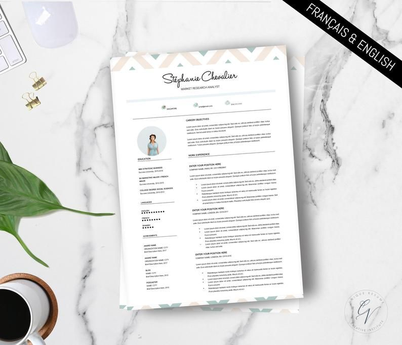 Pin By Cv Institute On Cv Professional Resume Bullet Journal English