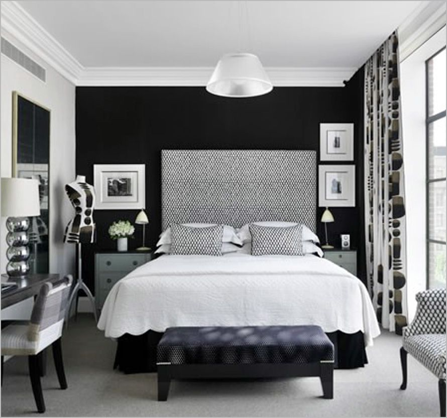 Black And White Hotel Style Bedroom Hotel Style Bedroom White Bedroom Design White Bedroom Decor Bedroom decoration black and white