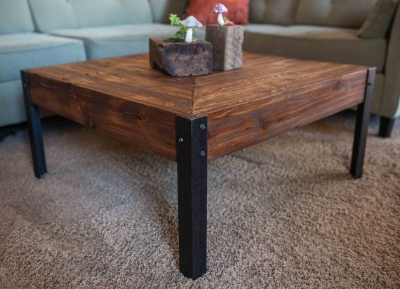 Pallet wood and metal leg coffee table pallet wood pallets and legs Aluminum coffee table legs