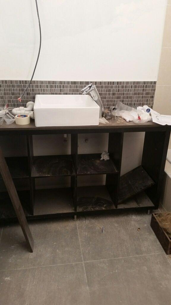 Kallax Bathroom Vanity For Small Bathroom Ikea Hackers Meuble De Salle De Bain Vanites De Petites Salle De Bains Meuble Salle De Bain Ikea