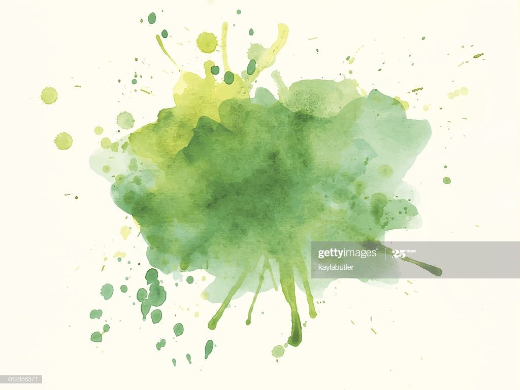 Watercolor Splash Processed As Vector Image Watercolor Splash Watercolor Splatter Green Watercolor