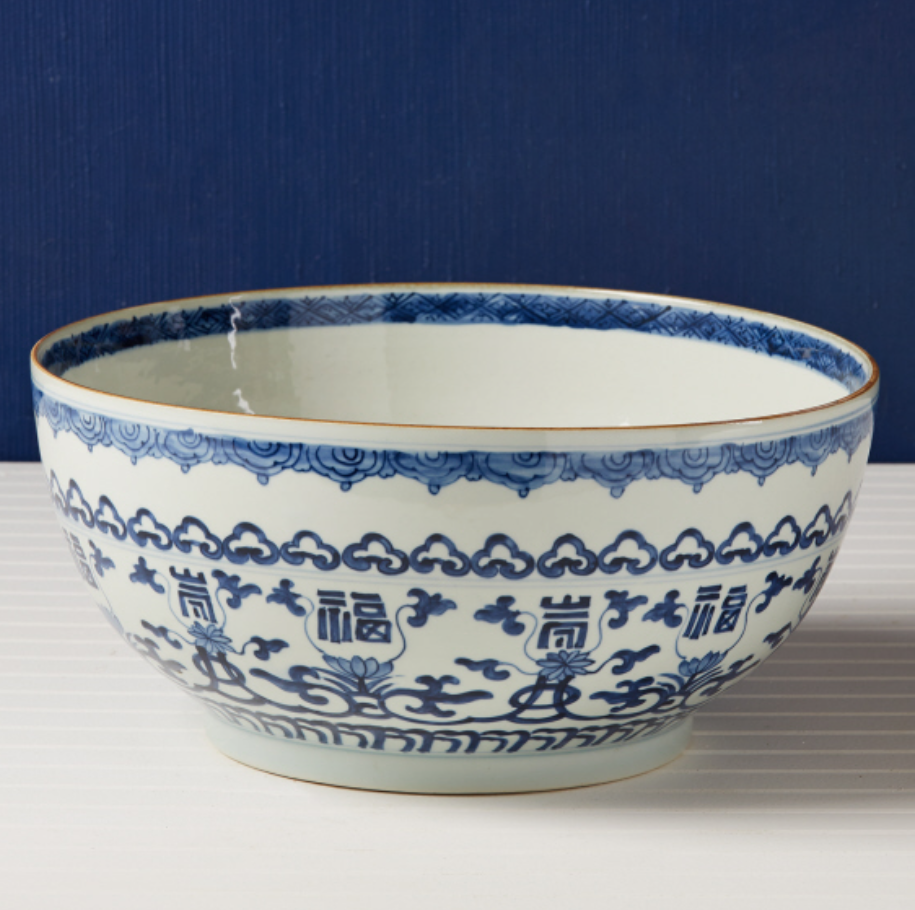 White Decorative Bowl Blue And White Decorative Bowl  Antiques & Accessories