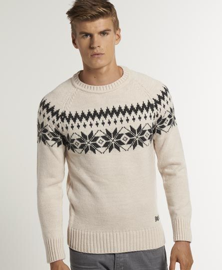 "Superdry Torsby Fairisle Crew - Men's Jumpers - Fairly ""Christmasy ..."