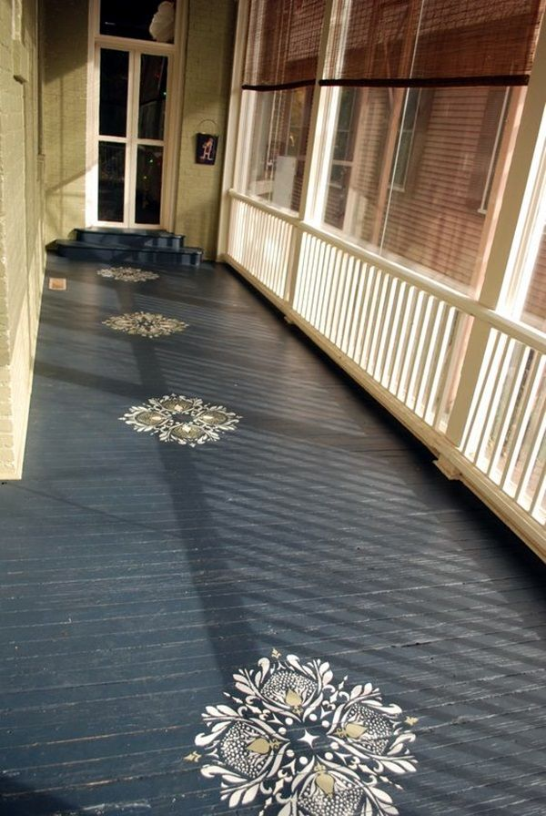 40 Creative Wood Floor Paint Decoration Art Works Painted Porch