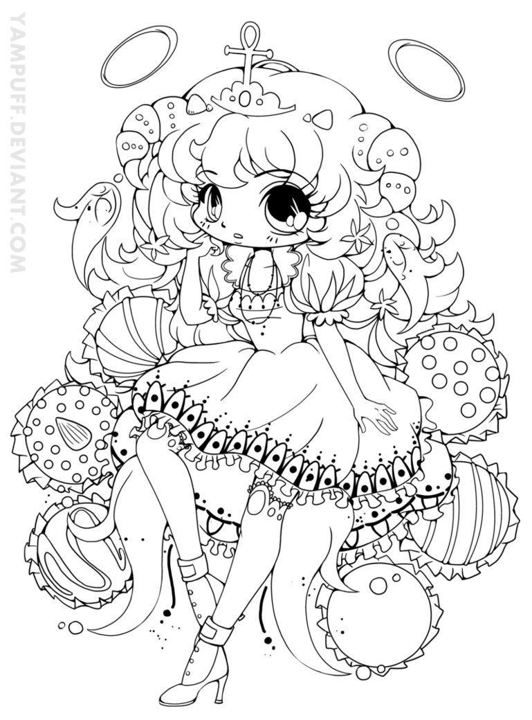 Truffle Girl Hazukia Lineart Chibi Coloring Pages Unicorn Coloring Pages Coloring Pages
