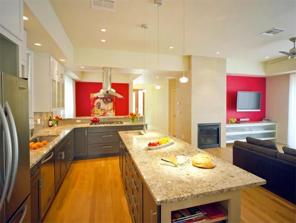 Elegant Bright And Colorful: How To Play With Kitchen Accent Walls
