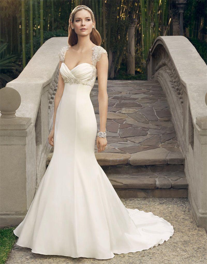 Wedding Dress for Petite Brides Mermaid Flores Para Noivas Lace ...