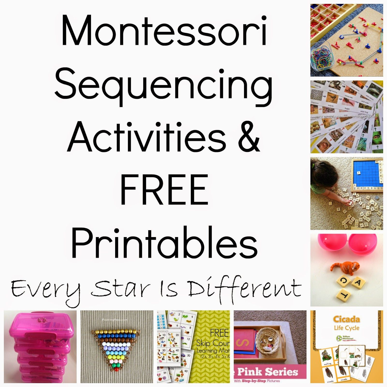 Montessori Inspired Sequencing Activities Free Printables Klp
