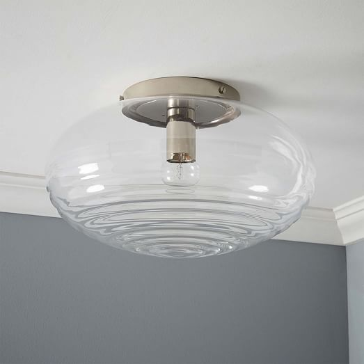 ripple glass flushmount | west elm | pvd decorating ideas