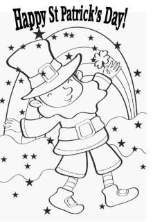 happy st patrick's day colouring card  st patrick day activities st patricks day colouring pages