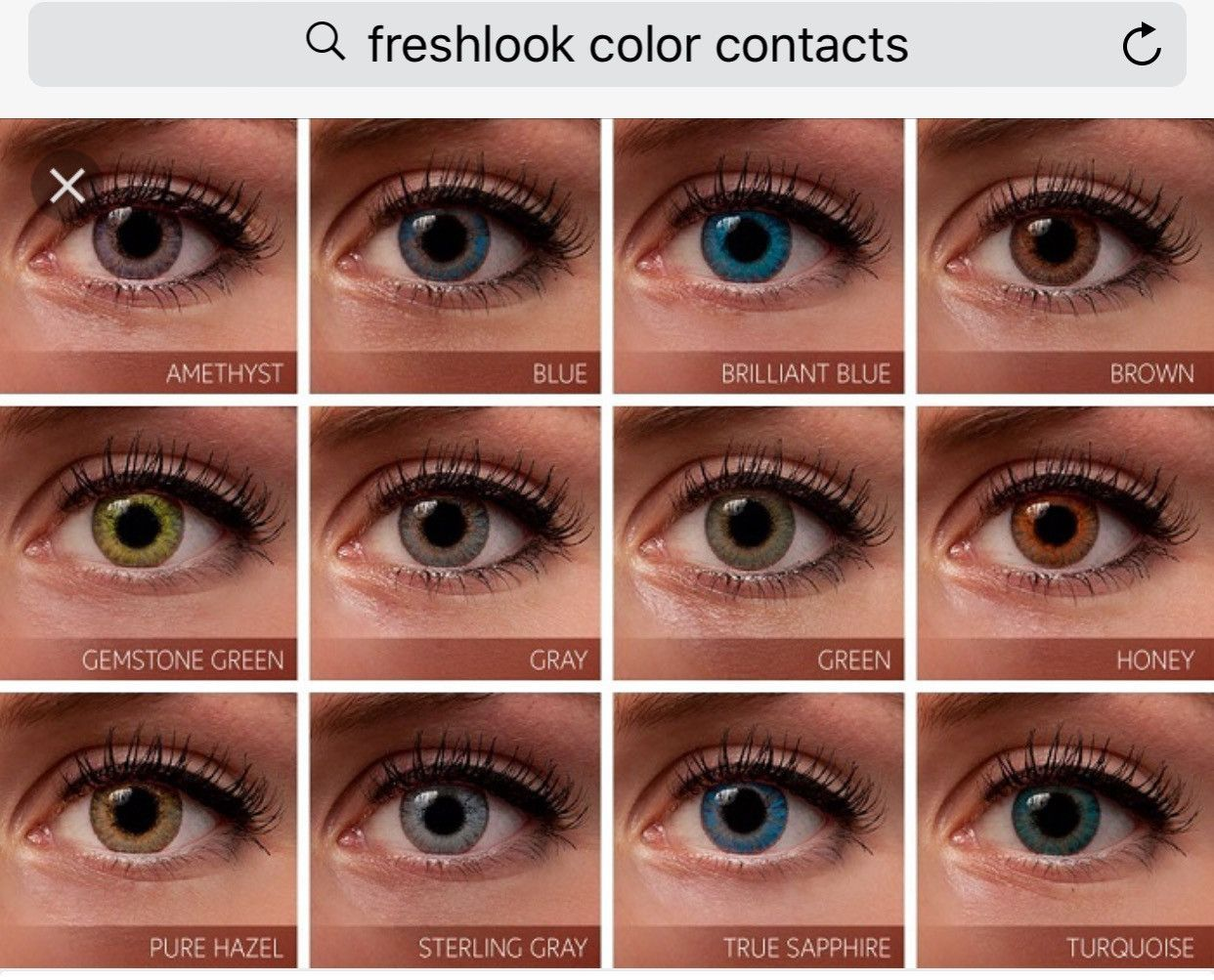 Non Prescription Color Contact Reusable Up To 3 Months With Proper Care Fast And Free S Contact Lenses Colored Colored Contacts Contact Lenses For Brown Eyes