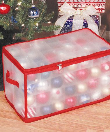 Look at this #zulilyfind! Frosted 112-Ornament Storage Box by