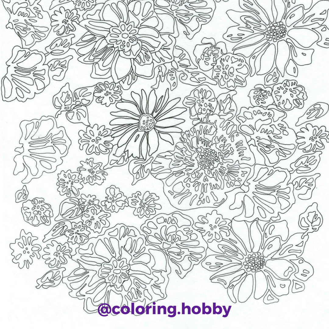 New coloring page for the members of our coloring hobby club this