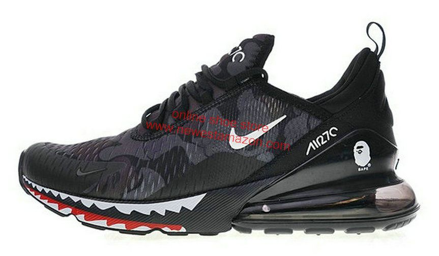 separation shoes c67d9 7e04d 2018 Official A Bathing Ape X Nike Air Max 270 Japanese Camo Bape Camo  Black Grey