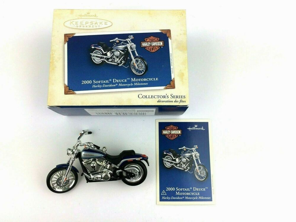 Harley Davidson 2020 Christmas Ornaments Hallmark Christmas Ornament 2000 Softail Deuce Motorcycle Harley