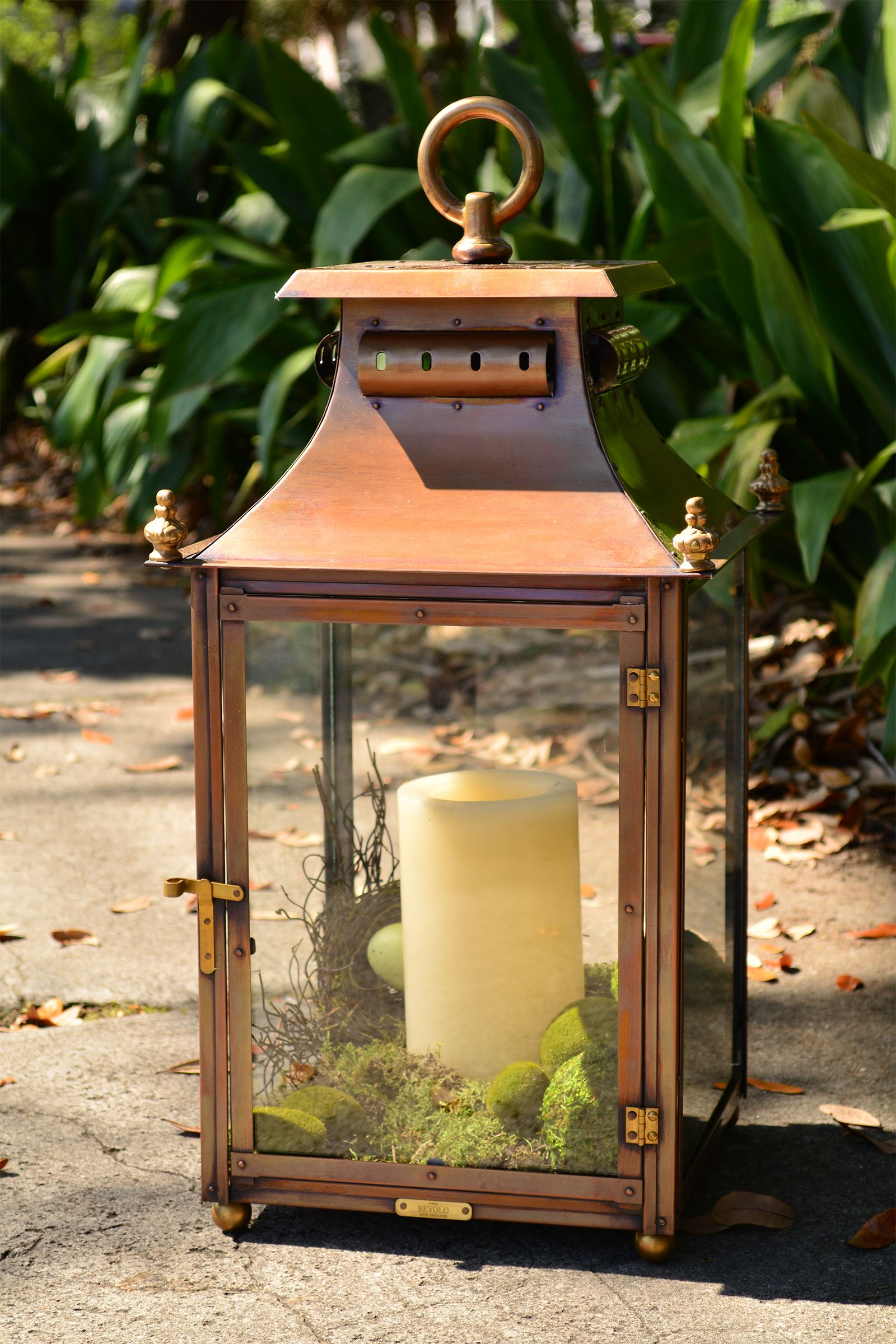 New Arrival The Highland Park Pool House Lantern From Bevolo Copper Lighting Bevolo Patio Lanterns