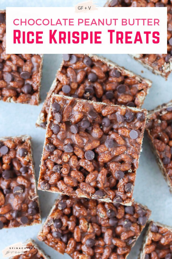 Chocolate Peanut Butter Rice Krispie Treats Recipe