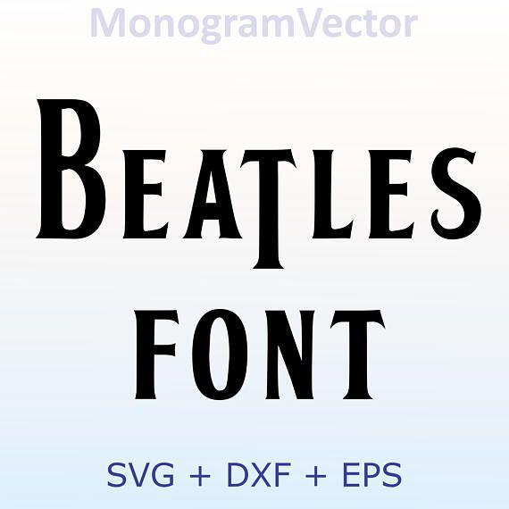 Beatles Vector Font