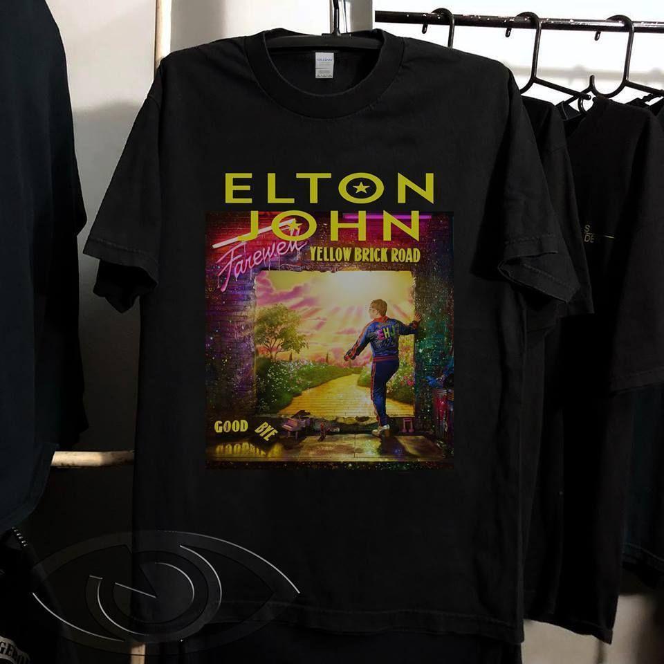 Elton John Farewell Yellow Brick Road concert tour 2019 T-Shirt Size S to 3XL