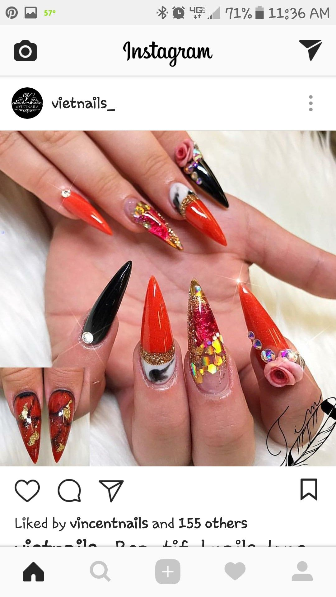 Pin by janet bailey on nail designs pinterest stiletto nail art