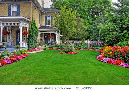 Victorian Style Cottage And Garden In Goderich Canada Porch Landscaping Front Porch Garden Front Porch Landscape