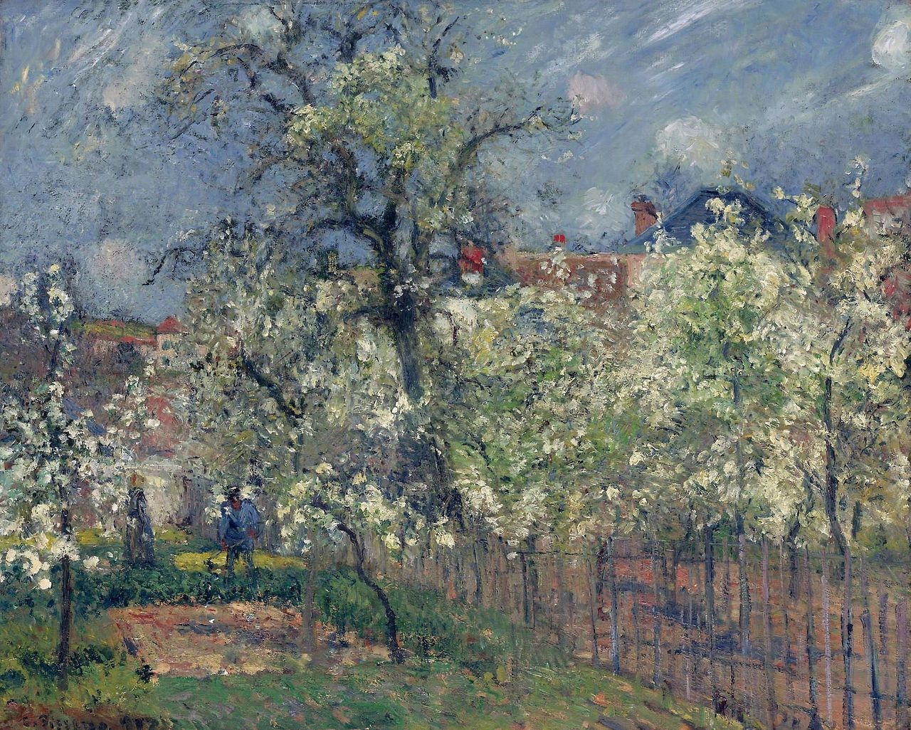 """The Garden Of Maubuisson, Pontoise, Pear Trees In Bloom,"""