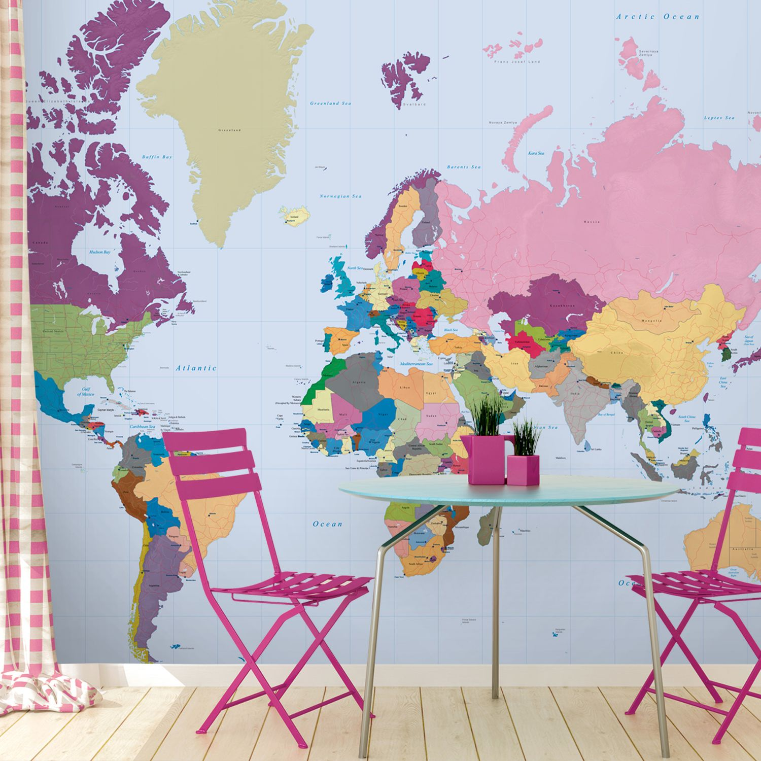 Colourful world map wallpaper home sweet home pinterest colourful world map wallpaper gumiabroncs Image collections