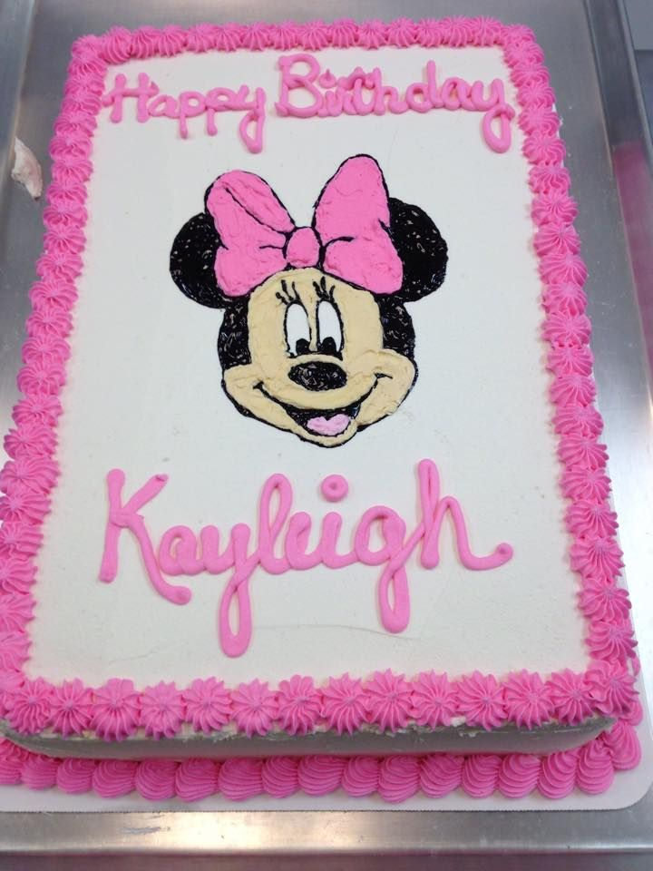 Minnie Mouse Sheet Cake Google Search 1st Birthday