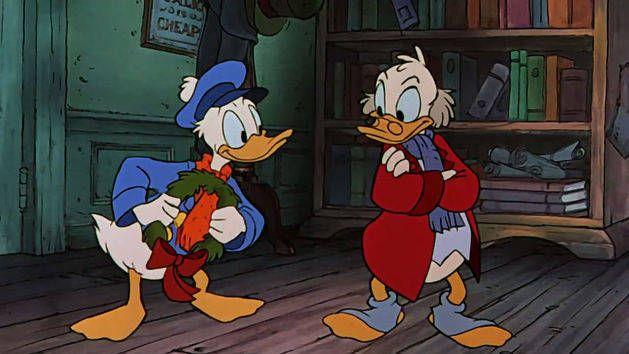 Scrooge Mickeys Christmas Carol Fred Visits Scrooge Mickeys