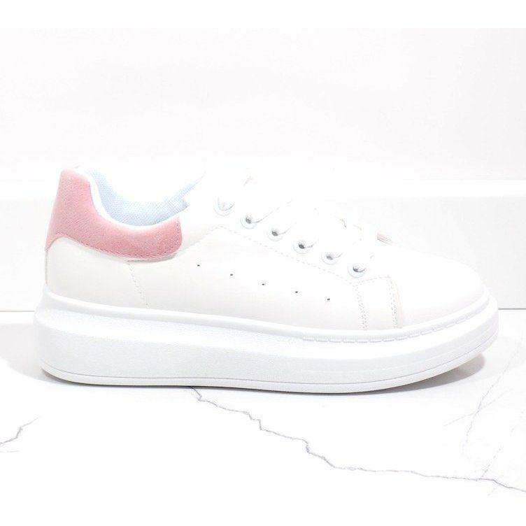 Biale Trampki Na Grubej Podeszwie 7935 Sp Rozowe Adidas Sneakers Adidas Stan Smith Sneakers