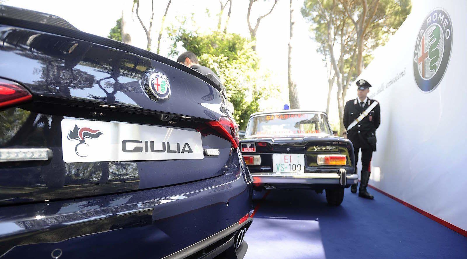 The 503-HP Alfa Romeo Giulia Quadrifoglio Is Italy's Latest Police Car