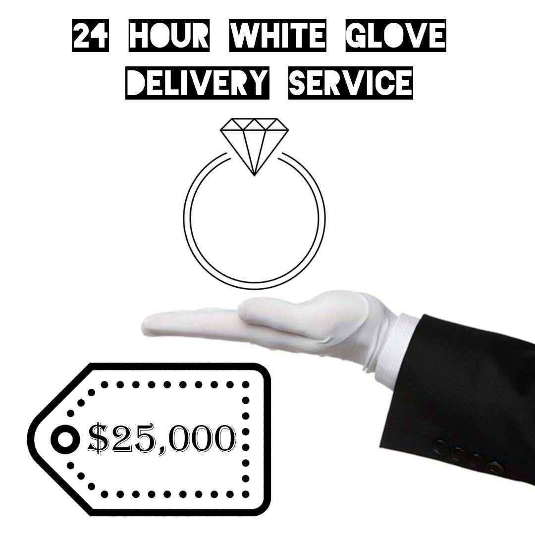 24 Hour White Glove Delivery Service White gloves Gloves and Delivery