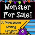 Let the creative juices flow! Students will enjoy creating their own monster and convincing others why they should purchase it! Students will write...