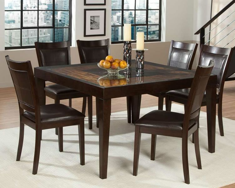 Elegant Game Tables And Chairs | Vincent Mango And Acacia Wood Dining Set With Square  Table Amazing Ideas