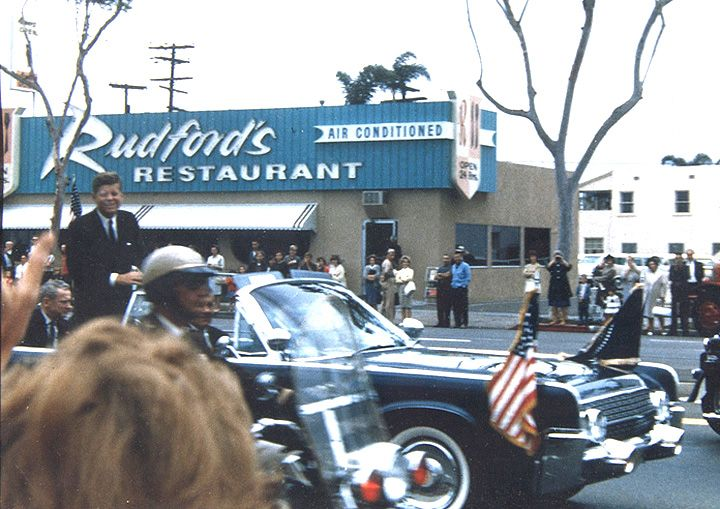 JFK In San Diego June Color Photo Of Motorcade Along El Cajon Blvd