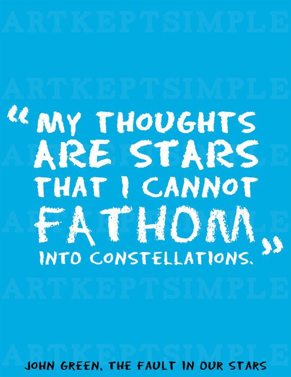 My Thoughts Are Stars I Cannot Fathom Into Constellations John