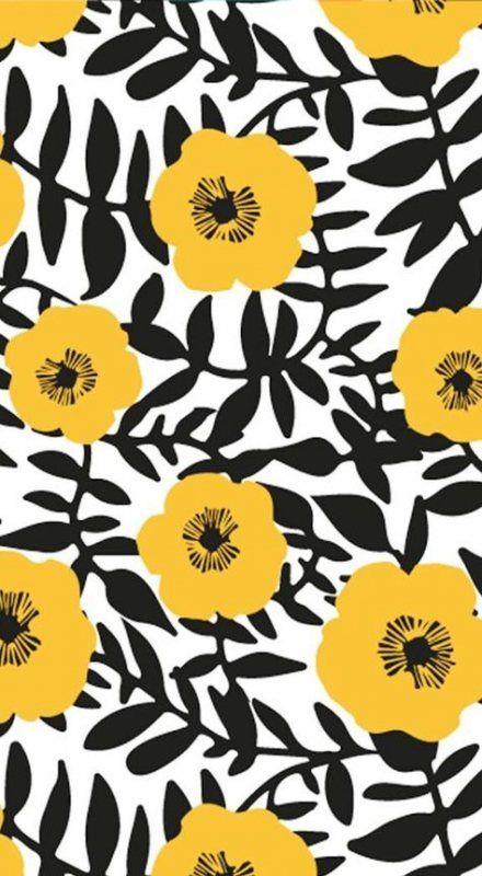 Flowers pattern wallpaper yellow 57+ ideas for 2019
