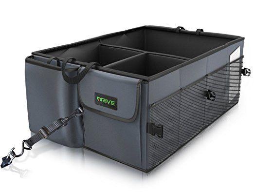 Foldable Car Trunk Organiser Box Tie Down Straps Car Boot Storage Sturdy Panels