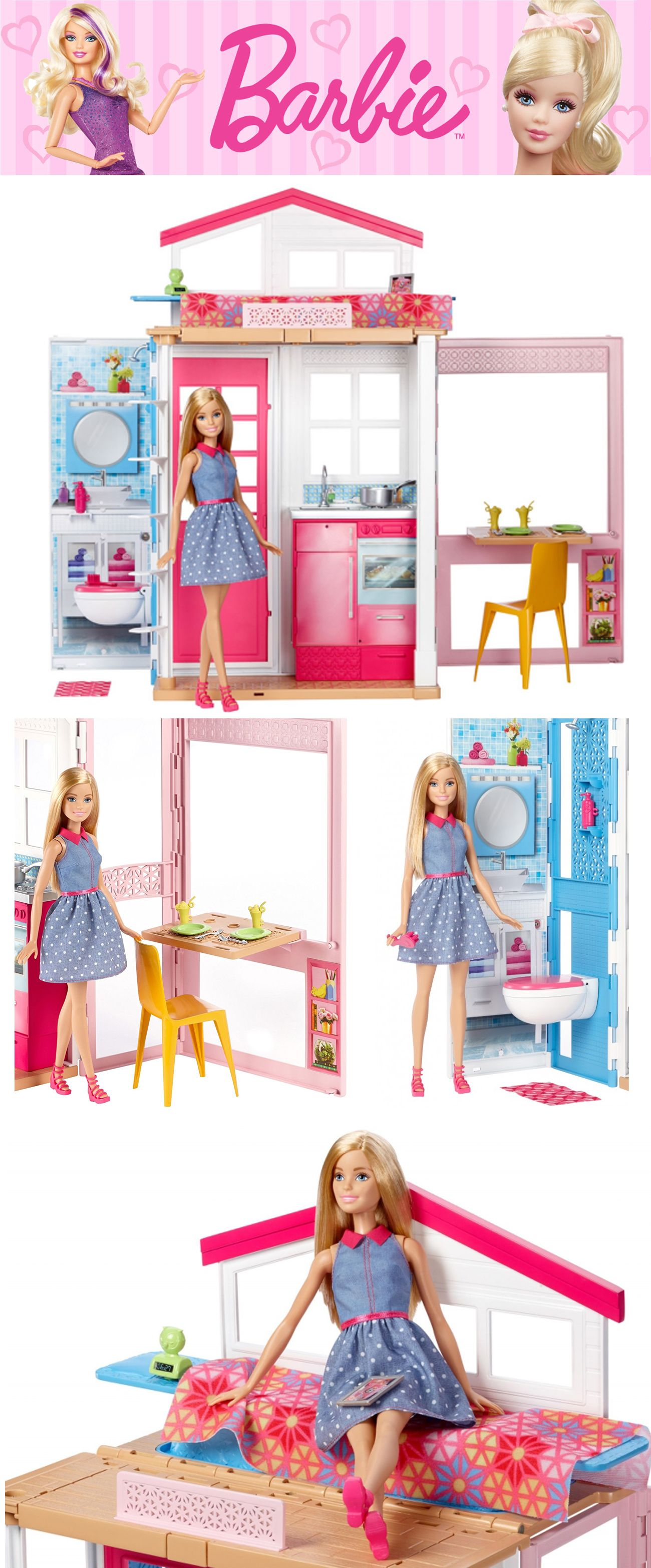 Barbie Dwupoziomowy Domek Dla Lalek Dvv48 Gratis With Images