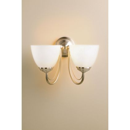 Rome Wall Light Satin Nickel Effect