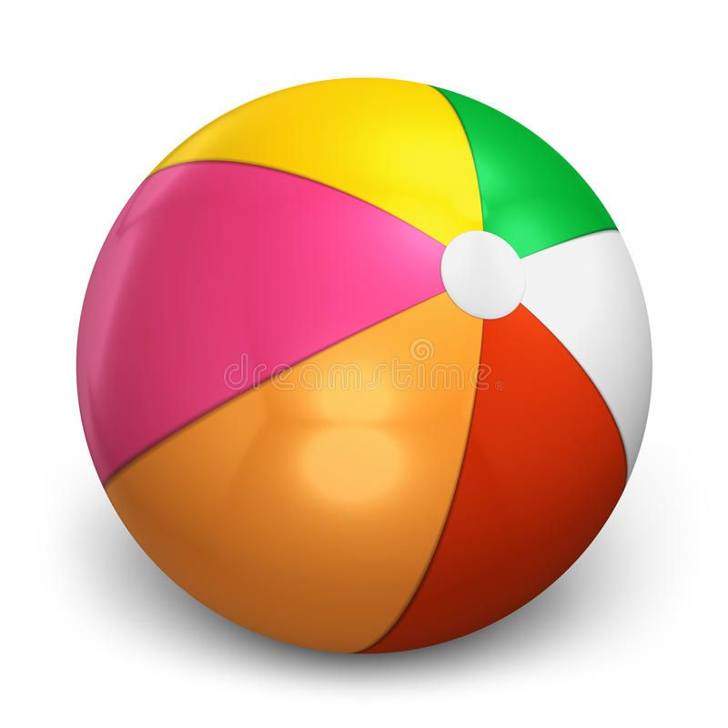 Color Beach Ball Isolated On White Background Affiliate Ball Beach Color Background White Ad Beach Ball Color Ball
