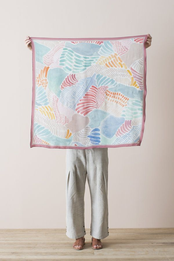 Silk Square Scarf - Painterly - Nancybird | hijab style ...