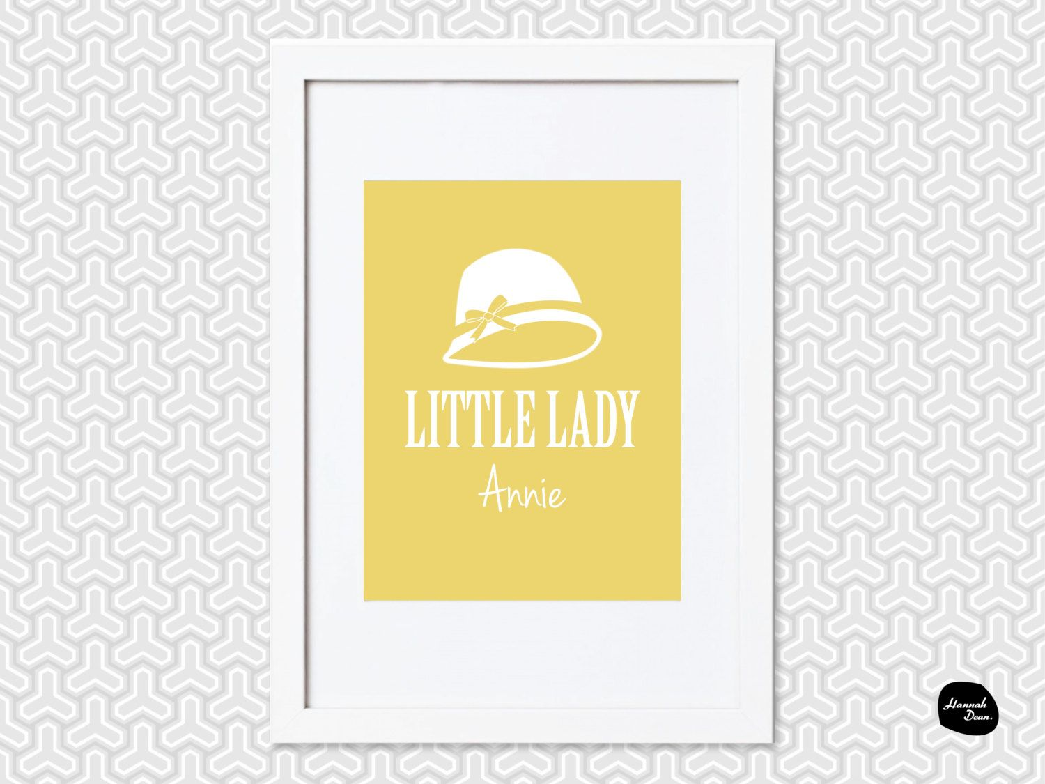 LITTLE LADY DESIGN ~ Personalised Wall Art - Home Decor Print - Hat ...