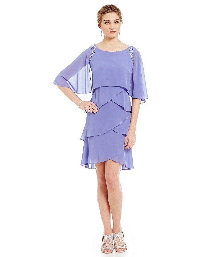 Sl sl fashion dresses - Wisteria S L Fashions Bead Trim Tiered Dress
