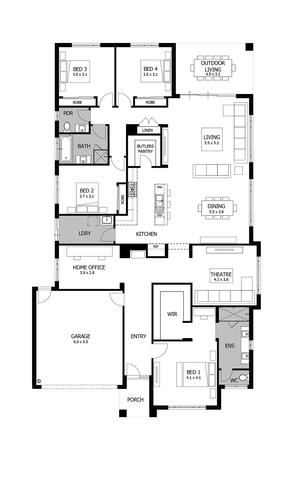Great Barcelona By Boutique Homes   Floor Plan