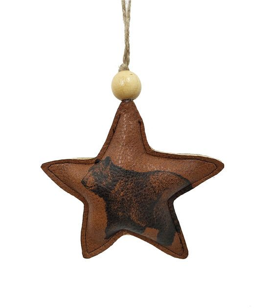 Place Time Christmas Leather Star Ornament Joann Star Ornament Christmas Ornaments